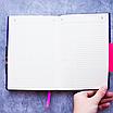 Ежедневник недатированный В6, 160 листов Florence, искусственная кожа, цветной срез, розовый, фото 9