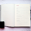 Ежедневник недатированный А5, 136 листов Powder pink foil, искусственная кожа, фото 5