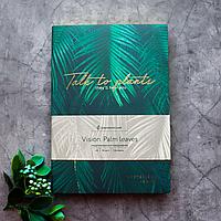 Ежедневник недатированный В6, Palm leaves, искусственная кожа