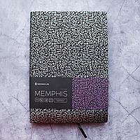 Ежедневник недатированный А5, 136 листов Memphis, искусственная кожа