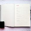 Ежедневник недатированный А5, 136 листов Ripple, искусственная кожа, цветной срез, фото 5