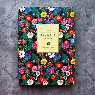"""Удобные женские планеры """"Flowery"""" (А5) в корейском стиле, Тропические цветы"""