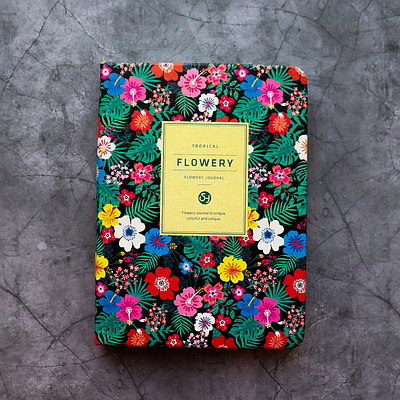 """Женские мини-планеры """"Flowery"""" в корейском стиле (A6) Тропические цветы"""