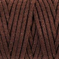 Шнур для вязания 'Пухлый' 100 хлопок ширина 5мм 100м (коричневый)