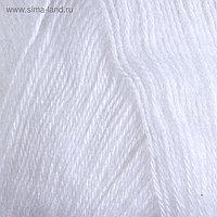 """Пряжа """"Angora Gold"""" 20%шерсть, 80%акрил 550м/100гр (55 белый)"""