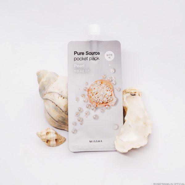 Ночная маска жемчуг Missha Pure Source Pocket Pack Pearl 10 ml.