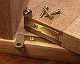 Петля пяточная, Brusso Г-образная, L-37, 44.5*9.5мм, латунь, 2 шт, фото 3