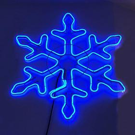 Фигура СНЕЖИНКА, светодиодная, диаметр 70*70см., цвет синий