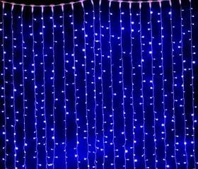 Светодиодная гирлянда ВОДОПАД 6*3 м., цвет синий