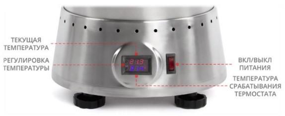 Цифровой терморегулятор оснащен мини-дисплеем на лицевой панели сыроварни