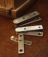 Петля пяточная, Brusso прямая, ST-12, 34.5*8мм, латунь, фото 3
