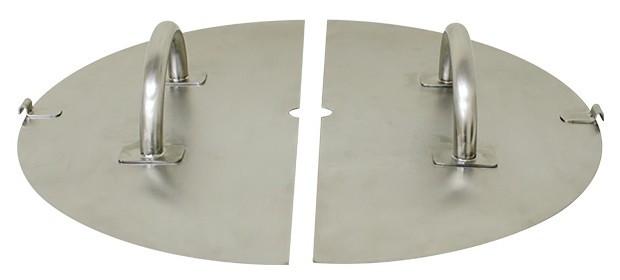 Две съемные крышки с отверстием для мешалки — для удобного и качественного процесса сыроварения