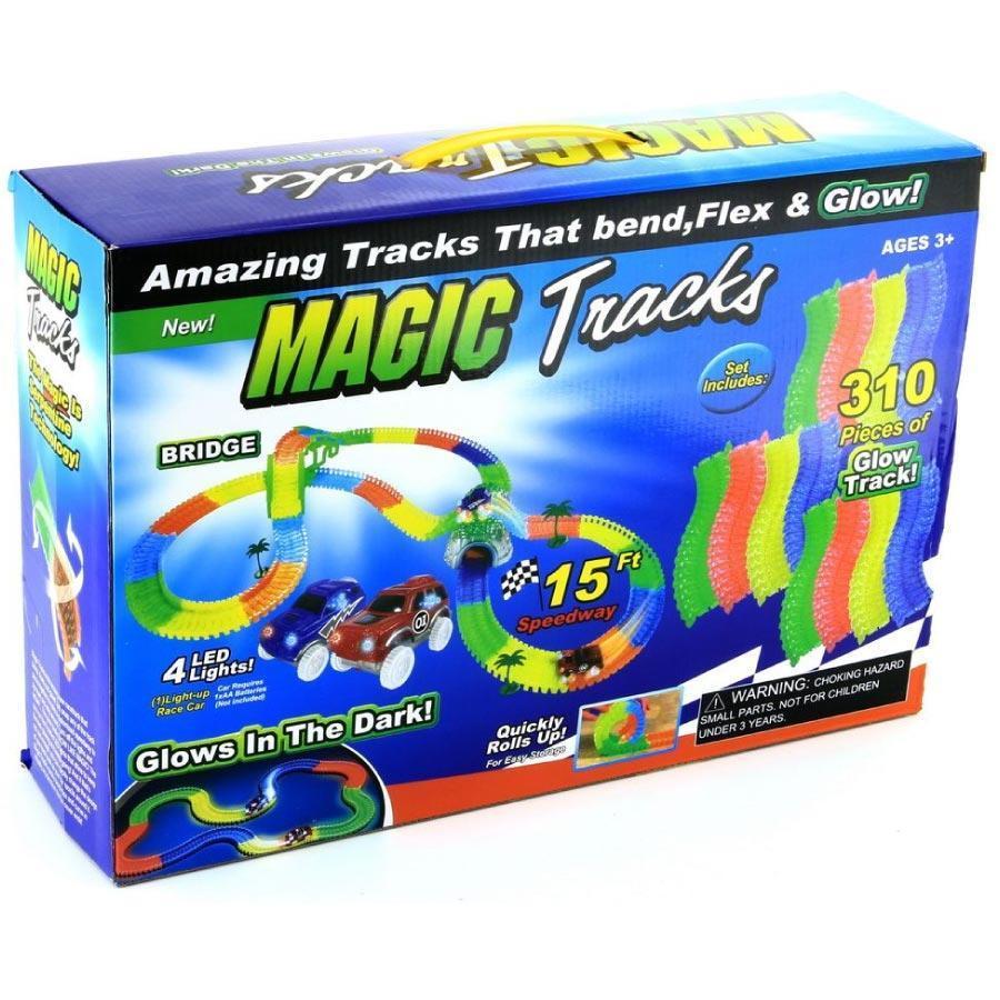 Светящаяся гоночная трасса MAGIC TRACKS (МЭДЖИК ТРЭКС) 310 деталей