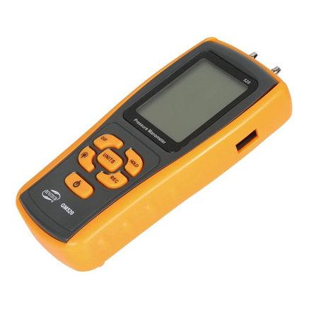 Дифманометр Benetech GM520. Дифференциальный манометр профессиональный, фото 2