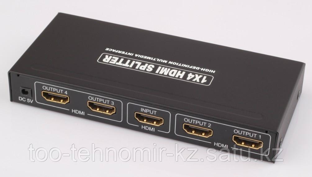 Сплиттер 3D, 1 CPU--> 4 Monitors, HDMI 1,4