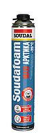 Монтажная пена профессиональная Soudal Soudafoam Maxi Arctic (зимняя до -25°C, пистолетная 870мл)