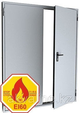 """Двери противопожарные двупольные """"ДМП EI60"""" ширина от 1100 мм."""