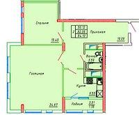 2 комнатная квартира в ЖК Сенатор Парк  84.1 м², фото 1