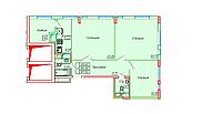 3 комнатная квартира в ЖК Сенатор Парк  87.32 м², фото 1