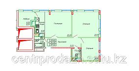 3 комнатная квартира в ЖК Сенатор Парк  87.32 м²