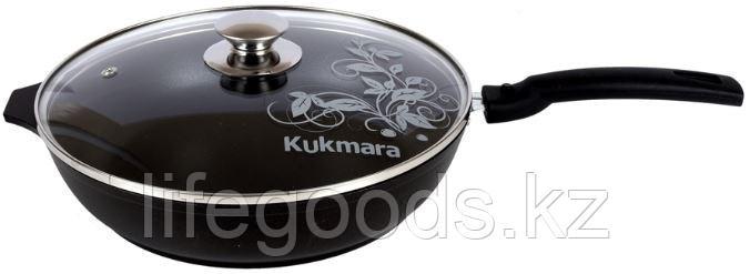 Сковорода 260/60 мм с антипригарным покрытием, со съемной ручкой, со стеклянной крышкой. с266а