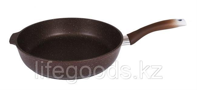 Сковорода 280/65мм с антипригарным покрытием (кофейный мрамор) с ручкой смк281а