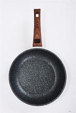 "Сковорода 240мм со съемной ручкой, АП линия ""Granit ultra"" (Green) сгз242а, фото 3"