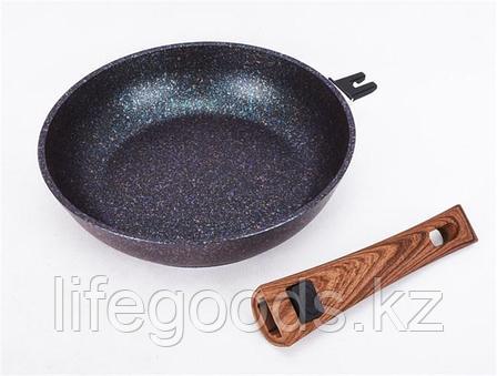 "Сковорода 240мм со съемной ручкой, АП линия ""Granit ultra"" (Blue) сгг242а, фото 2"
