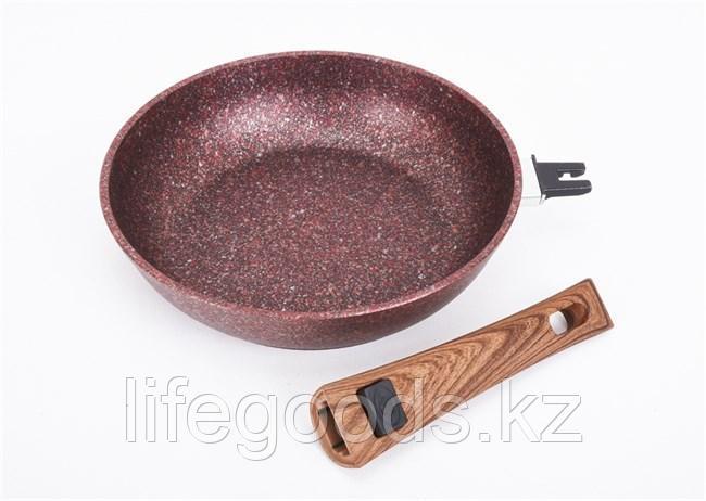 """Сковорода 280мм со съемной ручкой, АП линия """"Granit ultra"""" (Red) сга282а"""