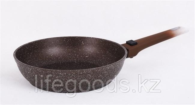 """Сковорода 240/60мм с антипригарным покрытием (кофейный мрамор) со съемной ручкой """"soft touch"""" смк247а"""