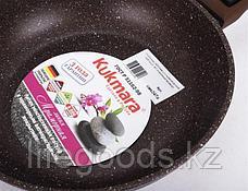 """Сковорода 240/60мм с антипригарным покрытием (кофейный мрамор) со съемной ручкой """"soft touch"""" смк247а, фото 3"""