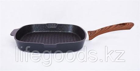 """Сковорода-гриль квадратная 280х280мм с ручкой, АП линия """"Granit ultra"""" (Blue) сгкгг280а, фото 2"""