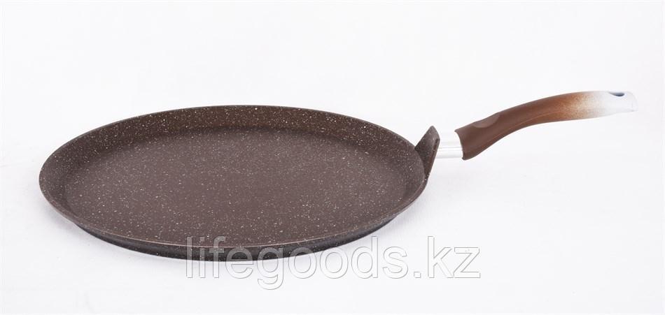 Сковорода-лавашница 350мм, АП (кофейный мрамор) слмк350а