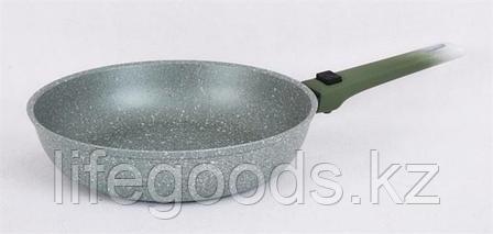 """Сковорода 260/60мм с антипригарным покрытием (фисташковый мрамор) со съемной ручкой """"soft touch"""" смф264а, фото 2"""