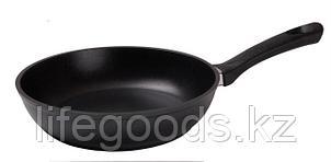 Сковорода 260/60мм(с утолщенным дном) с антипригарным покрытием, с ручкой, со стеклянной крышкой с269а, фото 2