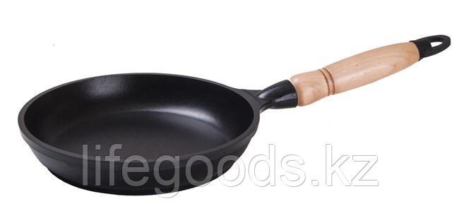 Сковорода 180/35 мм c антипригарным покрытием, с деревянной ручкой. с183а