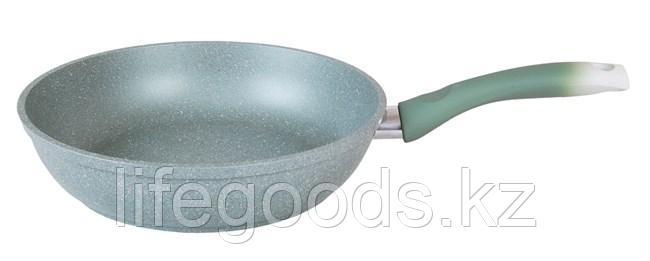 Сковорода 240/60мм с антипригарным покрытием (фисташковый мрамор) с ручкой смф241а