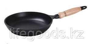 Сковорода 200/40 мм c антипригарным покрытием, с деревянной ручкой. с200а, фото 2
