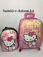 Детский чемодан для девочек с 4-х до 7-и лет в комплекте с рюкзаком. 44-30-21см., фото 1