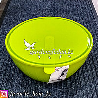"""Салатник с крышкой """"Giaretti"""". Материал: Пластик. Цвет: Зеленый. Объем: 5л."""