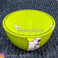 """Салатник с крышкой """"Giaretti"""". Материал: Пластик. Цвет: Зеленый. Объем: 2.8л."""