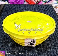 """Салатник с крышкой """"Giaretti"""". Материал: Пластик. Цвет: Желтый. Объем: 4л."""