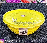 """Салатник с крышкой """"Giaretti"""". Материал: Пластик. Цвет: Желтый. Объем: 2.5л."""