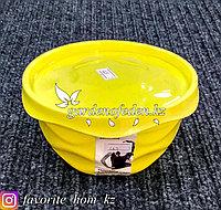 """Салатник с крышкой """"Giaretti"""". Материал: Пластик. Цвет: Желтый. Объем: 0.75л."""