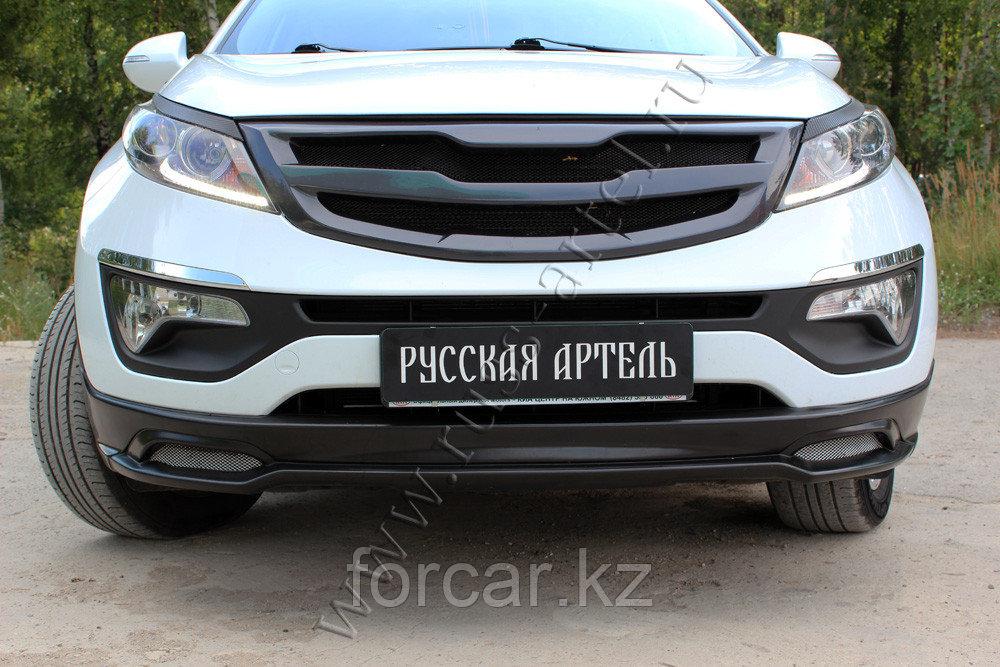 Тюнинг обвес переднего бампера Вариант 1  KIA Sportage 2014-