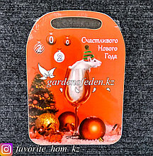 """Доска разделочная, сувенирная """"Счастливого нового года"""". Материал: Дерево."""