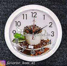 Часы настенные, на батарейках, с декором. Размер: d=23.