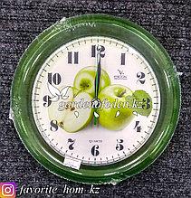 Часы настенные, на батарейках, с декором. Размер: d=20.