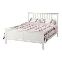 Кровать каркас  ХЕМНЭС белая морилка 180х200 Лурой ИКЕА, IKEA, фото 1