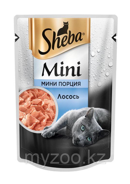 Sheba mini с лососем, 50 гр.   Шеба мини влажный корм для кошек  